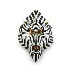 Fierce Portraits | Mandrill mask (black-gold) | Objets | Lladró