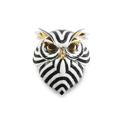 Fierce Portraits | Owl mask (black-gold) | Objets | Lladró
