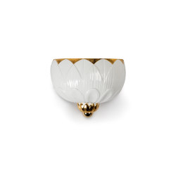 Ivy & Seed Wall Sconce | White and Gold (CE/UK) | Appliques murales | Lladró