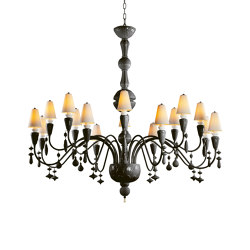 Ivy and Seed 16 Lights Chandelier | Large Flat Model | Absolute Black (CE/UK) | Chandeliers | Lladró