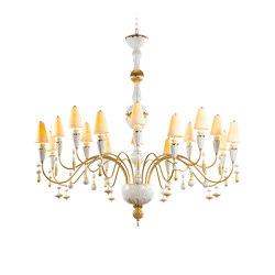 Ivy and Seed 16 Lights Chandelier | Large Flat Model | Golden Luster (CE/UK) | Chandeliers | Lladró