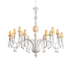 Ivy and Seed 16 Lights Chandelier | Large Flat Model | White (CE/UK) | Chandeliers | Lladró