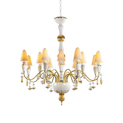 Ivy and Seed 16 Lights Chandelier | Medium Flat Model | Golden Luster (CE/UK) | Chandeliers | Lladró