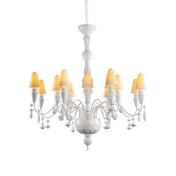Ivy and Seed 16 Lights Chandelier | Medium Flat Model | White (CE/UK) | Chandeliers | Lladró