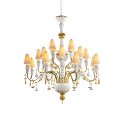 Ivy and Seed 20 Lights Chandelier | Medium Model | Golden Luster (CE/UK) | Chandeliers | Lladró