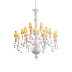 Ivy and Seed 20 Lights Chandelier | Medium Model | White (CE/UK) | Chandeliers | Lladró