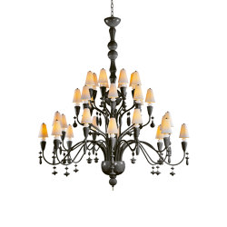 Ivy and Seed 32 Lights Chandelier | Large Model | Absolute Black (CE/UK) | Chandeliers | Lladró
