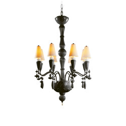 Ivy and Seed 8 Lights Chandelier | Absolute Black (CE/UK) | Chandeliers | Lladró
