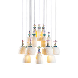 Mademoiselle 24 Lights Strolling through Blossom | Chandelier (CE/UK) | Suspensions | Lladró