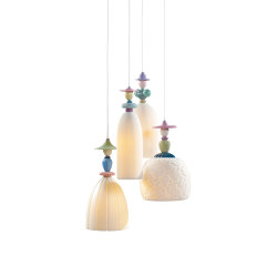 Mademoiselle 4 Lights Walking on The Beach | Ceiling Lamp (CE/UK) | Suspensions | Lladró