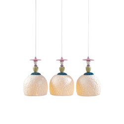 Mademoiselle Lineal Canopy 3 Lights Gazing at The Ocean | Ceiling Lamp (CE/UK) | Suspensions | Lladró