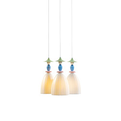 Mademoiselle Round Canopy 3 Lights Sharing Secrets | Ceiling Lamp (CE/UK) | Suspensions | Lladró