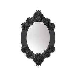 Mirrors | Espejo de pared ovalado | Negro | Serie limitada | Espejos | Lladró