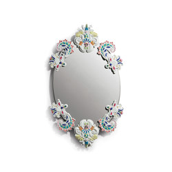 Mirrors | Oval Wall Mirror without Frame | Multicolor | Limited Edition | Mirrors | Lladró