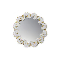 Mirrors | Spiral Wall Mirror | Golden Lustre and White | Limited Edition | Mirrors | Lladró