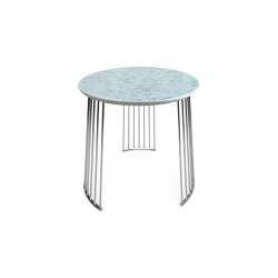 Moments Crystal Table | Chrome Metal | Tables d'appoint | Lladró