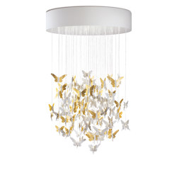 Re-cyclos Niagara Chandelier 1.10m | Golden Luster (CE/UK) | Suspended lights | Lladró