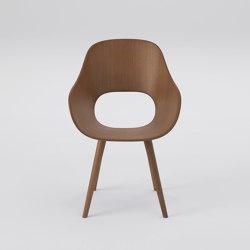 Roundish Armchair (wooden seat) | Chairs | MARUNI