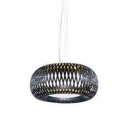 Kalatos Suspension Black & Gold | Suspended lights | Slamp