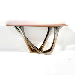 G-Console Duo | leather top | Tables de repas | Zieta