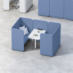 Hug Modular Pods | Sound absorbing furniture systems | Fantoni