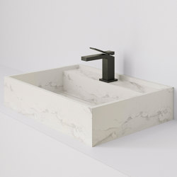 Hydra 60x43 Larsen Super Blanco-Gris Natural | Wash basins | INALCO