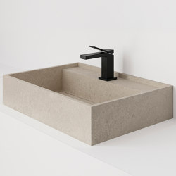 Hydra 60x43 Petra Crema Bush-hammered | Wash basins | INALCO