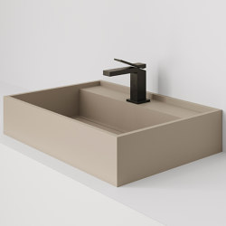 Hydra 60x43 Silk Camel Natural | Wash basins | INALCO
