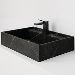 Hydra 60x43 Storm Negro Natural | Wash basins | INALCO