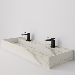 Hydra 117x43 Larsen Super Blanco-Gris Naturale | Wash basins | INALCO