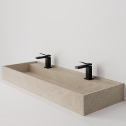 Hydra 117x43 Petra Crema Bush-hammered | Wash basins | INALCO