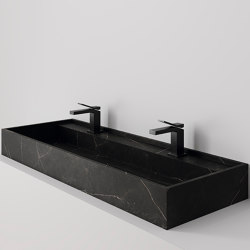 Hydra 117x43 Storm Negro Natural | Wash basins | INALCO