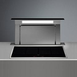 Design | Down Draft 90cm Black Re-circulating | Kitchen hoods | Falmec