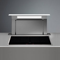 Design | Down Draft 90cm White Re-circulating | Kitchen hoods | Falmec