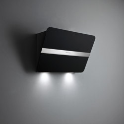 Design | Flipper Wall 85cm Satin Black | Kitchen hoods | Falmec