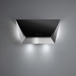 Design | Prisma Wall 115cm Black | Kitchen hoods | Falmec