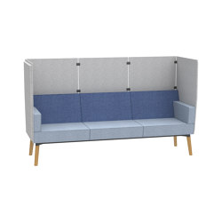 Reefs solitary 3-seater bench with privacy panel | Sofas | Dauphin