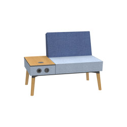 Reefs solitary Belize 1,5-seater bench with electrification | Armchairs | Dauphin