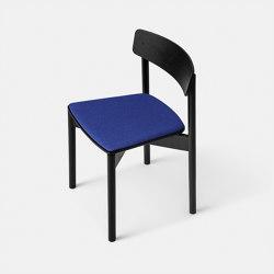 T01   Cross Chair Oak Black lacquer Blue Hallingdal   Chairs   TAKT