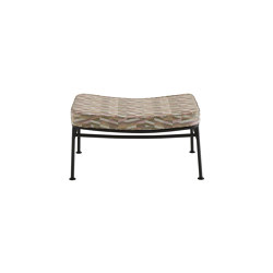 Backpack 2 | Footstool Outdoor Charbon Lacquered Base | Poufs | Ligne Roset