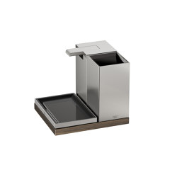 ACCESSORI | Set di bellezza composto da 3 elementi | Brushed Steel | Portasapone liquido | Armani Roca