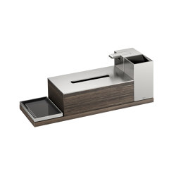 ACCESSORIES | 4 piece accessories set | Brushed Steel | Soap dispensers | Armani Roca