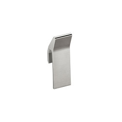 ACCESSORIES | Hook for profile shelf | Brushed Steel | Towel rails | Armani Roca