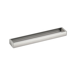 ACCESSORIES | Profile shelf 752,5 x 120 mm | Brushed Steel | Towel rails | Armani Roca