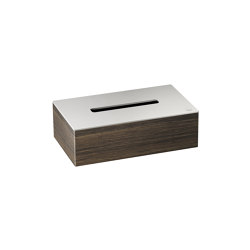 ACCESSORIES | Tissue box holder | Brushed Steel | Paper towel dispensers | Armani Roca