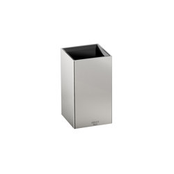 ACCESSORIES | Toothbrush holder | Brushed Steel | Toothbrush holders | Armani Roca