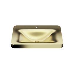 LAVABOS | Lavabo de sobre encimera 660 mm con 1 orificio de grifería Matt Gold | Lavabos | Armani Roca