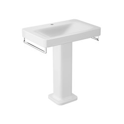 BASINS | 750 mm wall-hung or pedestal washbasin for 1-hole basin mixer | Glossy White | Wash basins | Armani Roca