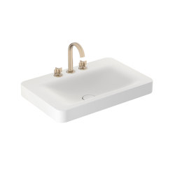 BASINS | 750 mm wall-hung or pedestal washbasin for 3-hole basin mixer | Off White | Wash basins | Armani Roca