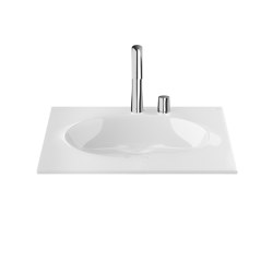 BASINS | Coutertop Washbasin 650 mm | Glossy White | Wash basins | Armani Roca